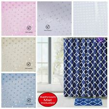 Us Fabric Bathroom 3D Shower Curtain Set Waterproof With Hooks
