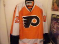 Vintage Philadelphia Flyers # 25 Girouix Hockey Jersey Man XL By Reebok