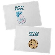 Coppia di tovagliette Latte e biscotti kawaii, idea regalo san valentino
