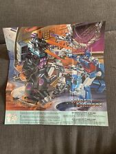 Original 1986 G1 Transformers Glow In The Dark Poster NO Reserve