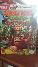 Donkey Kong Country Returns 3D (BRAND NEW) Official STRATEGY GUIDE (B9)
