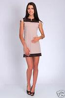 Women's Two Colours Dress Unique Pattern Tunic Style Cap Sleeve Size 8-16 FA12