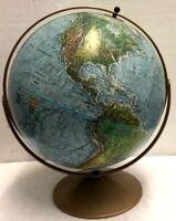 Vintage Globe raised relief 1974 Replogle Land and sea Globe USSR