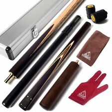 "CUESOUL Snooker Cue 57"" 3/4 Jointed  with 2 Cue Extension and Aluminium Cue Case"