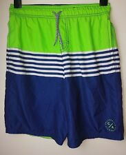 George Kid Blue/ Green Stripped  Swimming Trucks Shorts Age 12 - 13 Years