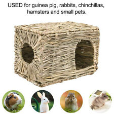 FOLDABLE WOVEN GRASS PET RABBIT HAMSTER GUINEA PIG CAGE NESTS HOUSE CHEW TOY KIT