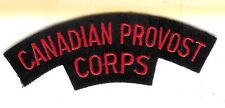Canadian Army Canadian Provost Corps Battle Dress Shoulder Flash