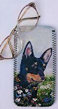 LANCASHIRE HEELER DOG NEOPRENE GLASSES CASE POUCH SANDRA COEN ARTIST PRINT