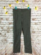 H&M Sz 4 Women's Olive Army green Hi Rise Straight Cut Pants