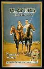 Players Cigarettes Polo embossed steel sign   (hi 3020)