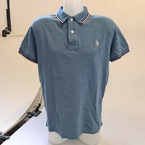 U.S. Polo Assn. Poloshirt T-Shirt Blau Herren Gr. L