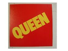 Queen Poster Flat Red And Yellow Simple