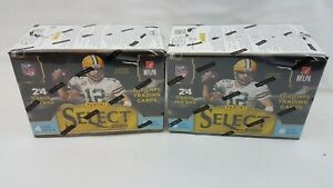 LOT OF 2 - 2020 Panini Select Football Blaster Box Blue Prizm Die-Cuts NFL Cards