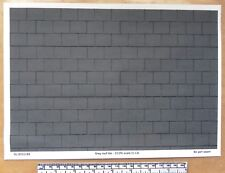 Dolls house 1/12th scale grey roof tile paper - A4 sheet (297x210 mm)