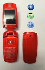 Téléphones mobiles Bluetooth rouge en double SIM