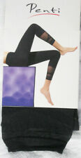 Black Footless Tights. 8-12 Opaque with Sheer Shin