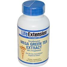Mega extracto de té verde-descafeinado - 100 Vcaps por extensión de la vida