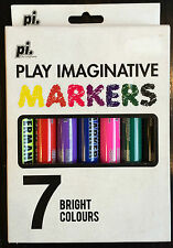 Play Imaginative Pack of 7 Marker Pens Free UK P&P New