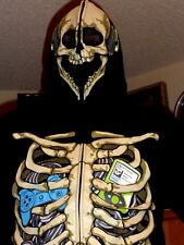 NEW HALLOWEEN ZIP HEAVY HOODIE SKELETON I-POD CORDS CONTROLS LARGE more sizes