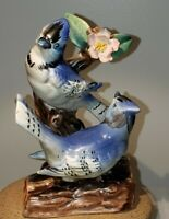 UCAGCO Japan Vintage Blue Jays Ceramic/Porcelain Hand Painted Figurine