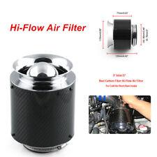 "3"" Inlet /5"" Carbon Fiber Look Hi-Flow Air Filter Cold Air Short Ram Intake Firm"