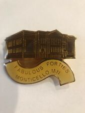 Vintage Fabulous Forties Monticello Minnesota Gold Tone Lapel Pin