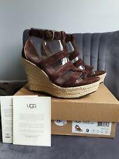 UGG Australia Lauri chocolate brown wedges UK 7.5 US 9 EU 40