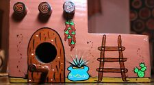 Hand-painted Wooden Adobe Home Birdhouse