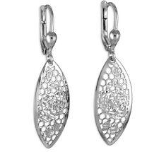 925 ECHT SILBER  RHODINIERT *** Ohrhänger Ohrringe Wabenmuster diamantiert 39 mm