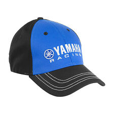 Yamaha Racing Finish Line Cap Blue/Black One Size Stretch Fit