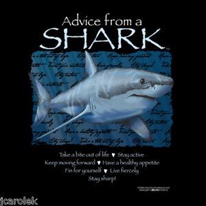 Shark T-shirt S M L XL XXL NWT Advice Cotton Black New Gildan
