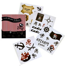 29 Motive Piraten Only Einmal Tattoos Set Kinder Body Tattoo Mitgebsel NEU
