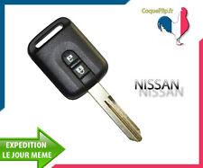 Coque Télécommande Clé Plip 2 Bouton Nissan K12 Note Qashqai Navara + Cle Vierge