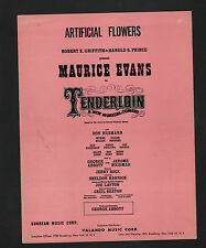 Artificial Flowers 1960 Tenderloin Sheet Music