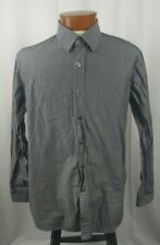 Paul Jones Long Sleeve Button Front Men's Casual Shirt XL Grey