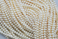 "4-5mm White Natural Real Freshwater Pearl loose Beads strands 15"" AAA+++"