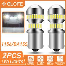 GLOFE 2X 1156 7506 LED Back up Reverse Light 6000K WHITE 4014 54-SMD LED Bulbs