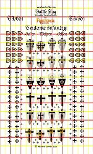 Fireforge Games Teutonic Order Infantry Decals by Battle Flag
