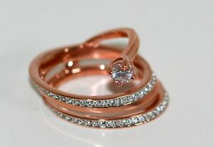 Swarovski Fresh Ring Gr.55 Rose Gold Coated New with Box