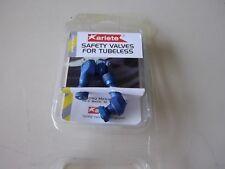 Jeu de valves aluminium tubeless coudées Diamètre 8.3 anodisées bleu ARIETE