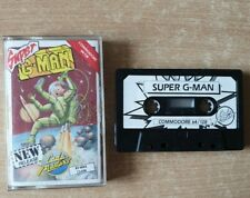 Super G-Man Commodore 64 C64 Computer Game Jewel Case Cassette