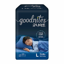 """2021 Brand-New Korea diaper"" GoodNites Bedwetting Underwear, Boys, Size L-17Ct."