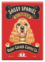 Retro Dogs Refrigerator Magnets: COCKER SPANIEL | COFFEE | Vintage Advertising