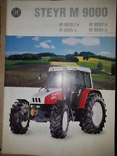 Prospekt Sales Brochure Steyr M 9000 9078a 9086a 9083a 9094a Traktor Technik