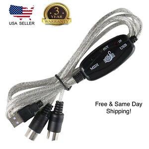 MIDI USB Cable Converter PC to Music Keyboard Adapter Tastatur MIDI A2TD