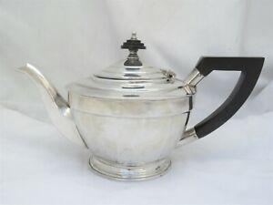 ART DECO STERLING SILVER TEA POT - SHEFFIELD 1935 CHARLES WILL FLETCHER