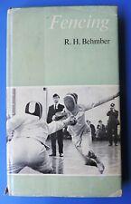 Fencing by Rh Behmber swords swordsmanship rare 1965