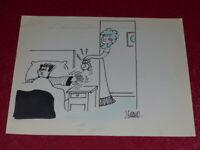 [ Bd Dessin Humorístico Prensa] J.Giraud - Original Cartel Despertador Mañana