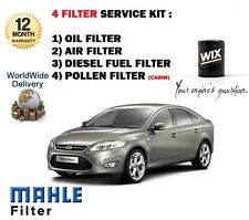 FOR FORD MONDEO 2.0TDCi 6/2007-> SERVICE KIT OIL AIR FUEL POLLEN FILTER KIT