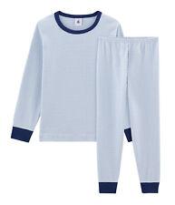PETIT BATEAU Jungen Schlafanzug Pyjama Milleraies Streifen blau weiß  98 -146